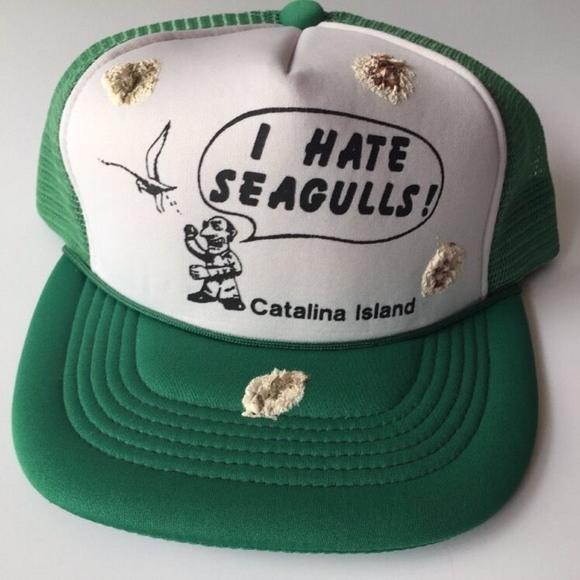8167ce2f Accessories   Trucker Hat I Hate Seagulls Bird Poop 80s Vintage ...